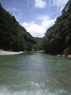 園瀬川…増水してます